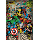 Poster Marvel Comics - Here Come The Heroes - 61X91,5 Cm