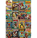 Poster Marvel Iron Man Covers - 61X91,5 Cm