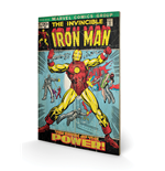 Iron Man - Birth Of Power (Stampa Su Legno 59X40Cm)