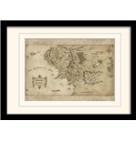 The Hobbit - Middle Earth Map (Stampa In Cornice 30X40 Cm)