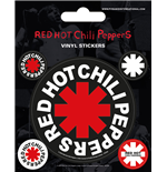Red Hot Chili Peppers (Set Adesivi 12,5X10 Cm)