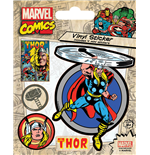 Marvel Comics - Thor Retro (Set Adesivi 12,5X10 Cm)