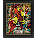 Marvel Retro - Iron Man (Poster Lenticolare 3D)
