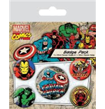 Marvel Retro - Captain America (Pin Badge Pack)