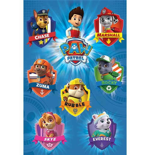 Paw Patrol - Crests (Poster Maxi 61X91,5 Cm)