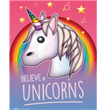 Emoji - Believe In Unicorns (Poster Mini 40x50 Cm)