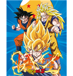 Dragon Ball Z - 3 Gokus (Poster Mini 40x50 Cm)