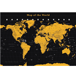 World Map - Gold (Poster Giant 100x140 Cm)