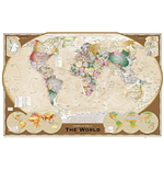World Map - Tripel Projection (Poster Maxi 61x91,5 Cm)