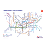 Shakespeare'S Underground Map (Poster Maxi 61X91,5 Cm)