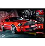 Easton - Red Mustang Gt500 (Poster Maxi 61x91,5 Cm)
