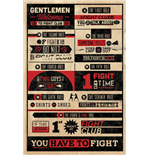 Fight Club Rules Infographic (Poster Maxi 61X91,5 Cm)