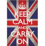 Keep Calm And Carry On - Union Jack (Poster Maxi 61X91,5 Cm)