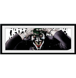Dc Comics - Laughing Joker (Stampa In Cornice 75x30 Cm)