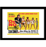 James Bond - Doctor No Yellow (Stampa In Cornice 30X40 Cm)