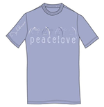 T-shirt John Lennon da uomo - Design: Peace & Love
