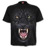 T-shirt Spiral - Tribal Panther Black
