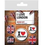 I Love London (Pin Badge Pack)