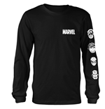 Maglia Manica Lunga Marvel Superheroes Stacked Heads