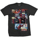 T-shirt Marvel Superheroes da uomo - Design: Deadpool Strips