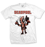 T-shirt Marvel Superheroes Deadpool Cartoon Bullet