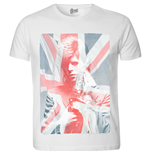 T-shirt David Bowie da uomo - Design: Union Jack & Sax