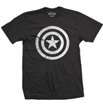 T-shirt Marvel Superheroes Captain America Civil War Basic Shield Distressed
