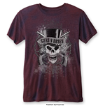 T-shirt Guns N' Roses da uomo - Design: Faded Skull