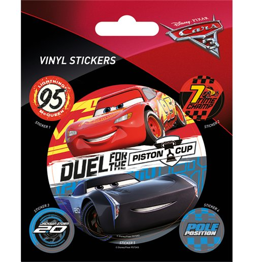 Cars 3 - Duel For The Piston Cup (Set Adesivi 12,5X10 Cm)