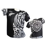All Blacks Nuova Zelanda T-SHIRT Tribal FULL-PRINT 2017