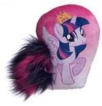 My Little Pony - Twilight Sparkle - Cuscino Con Coda In Peluche 30 Cm