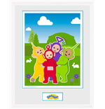 Teletubbies - Time For Teletubbies (White) (Stampa In Cornice 30x40cm)