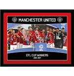 Manchester United - Efl Cup Winners 16/17 (Stampa In Cornice 30x40 Cm)