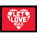 Let Love Rule (Stampa In Cornice 30X40 Cm)