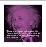Albert Einstein - I.Quote (Poster 40X40 Cm)