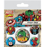 Marvel Retro - Hulk (Pin Badge Pack)