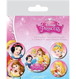 Disney Princess - Belle, Cinderella, Snow White And Aurora (Pin Badge Pack)