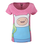 Adventure Time - Dotted Screen Printed (T-SHIRT Donna )