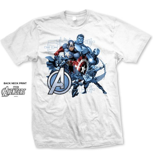 T-shirt Marvel Superheroes Group Assemble