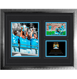 Manchester City - Fa Cup Win 2010-11 (Stampa In Cornice 40x50cm)