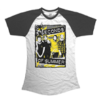 5 Seconds Of Summer - Splatter (T-SHIRT Donna )