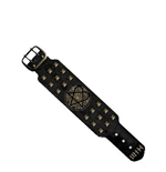 Him - Bronze Logo W Stud Leather Wb Wristbands Special U Black