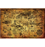 Legend Of Zelda (The) - Hyrule Map (Poster Maxi 61X91,5 Cm)