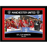 Manchester United - Efl Cup Winners 16/17 (Stampa In Cornice 15x20 Cm)