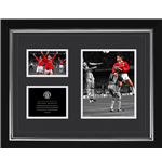 Manchester United - Sheringham Historic (Stampa In Cornice 40x50 Cm)