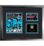 Manchester City - 6 - 1 Vs Man Utd (Stampa In Cornice 40x50cm)