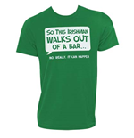 T-shirt Irish - Irishman Walks Out Of A Bar