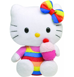 Ty - Hello Kitty - Peluche 20 Cm - Cupcake