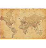 World Map - Vintage Style (Poster Maxi 61X91,5 Cm)
