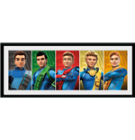 Thunderbirds Are Go - Group (Stampa In Cornice 30x75cm)
